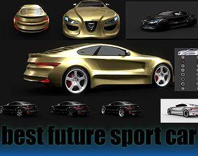 Affekta Futuristic Sport Car EXTRA 8 tuningRIMS 3D model 2