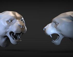 3D print model Angry Puma head