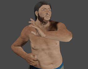 3D model animated Giant