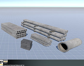 Construction Materials Set 1 3D model