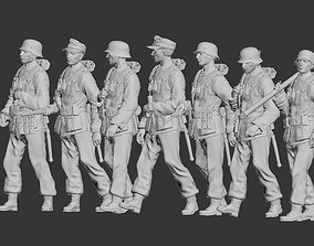 officer 3D print model German soldiers