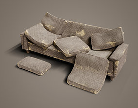 Old Couch 3D asset