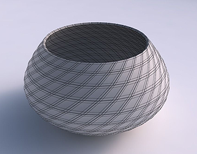 Bowl squeezed twisted with grid plates 3D printable model