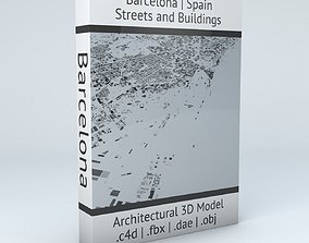 Barcelona Downtown Streets and Buildings 3D model