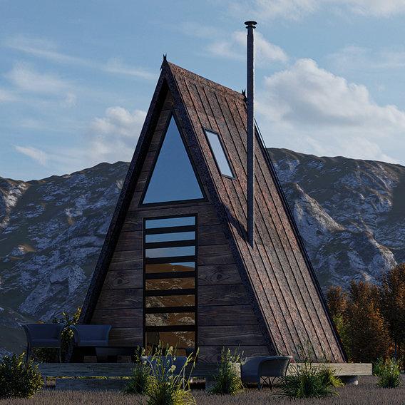small triangular house