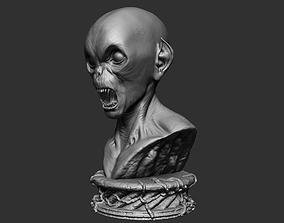 dark 3D print model Orc Bust