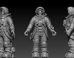 space 3D model astronaut