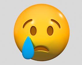 Emoji Crying Face 3D model