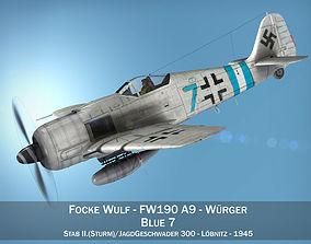Focke Wulf - FW190 A9 - Blue 7 3D model
