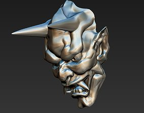 simple japanese hannya demon 3D print model