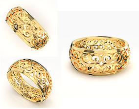 3D printable model platinum GOLD RING