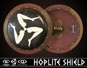 3D model Hoplite Shield Triskelion 2