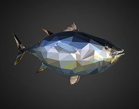 Tuna Low Polygon Art Ocean Fish 3D model
