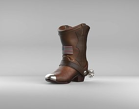3D printable model cowboy Cowboy Boot Piggy Bank