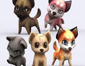 animated 3DRT - Chibii Dogs