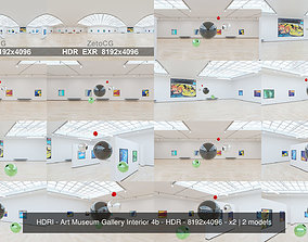3D model HDRI - Art Museum Gallery Interior 4b - HDR - 2