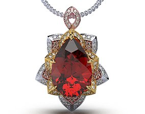 pendants Jewelry Pendant Flower Style 3D Design- CC123