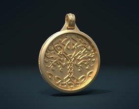 3D print model Tree Pendant I