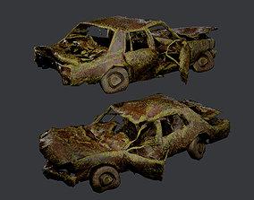 Apocalyptic Damaged Destroyed Vehicle 3D model 4