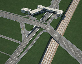 Highway Road Junction marking 3D