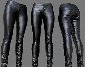 3D asset Leather Biker Pants