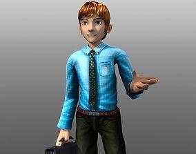 Cartoon Businessman 3D model