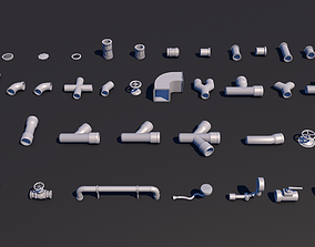 3D Pipes 40 pieces