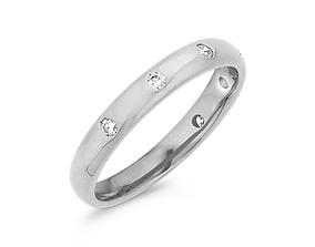 The Bezel Wedding Diomand Ring 3d Model Print