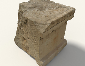 3D asset Scanned Cubic Stone
