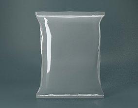 Plastic Packet transparent 3D