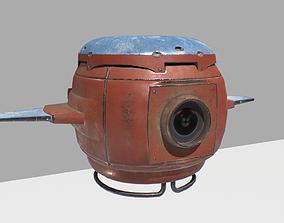 3D model Sci fi camera drone