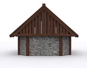 3D asset CottageHouse