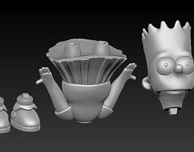 3D printable model Bart Simpson in Skirt