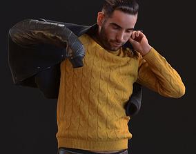 00046Skander004 Man Puts On Jacket 3D Model