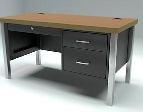 3D model low-poly School Classroom Teachers Desk