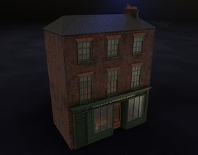 Old brick house with shop 3D