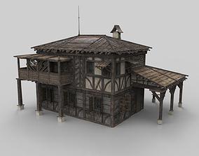 Medieval house fantasy 16 3D model
