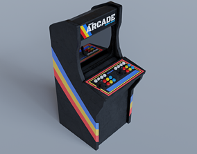 3D asset low-poly Arcade Cabinet arcade