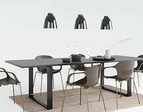 original Fritz Hansen Nap Chair Set 3D model