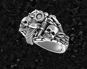 silver 3D print model Motoring12