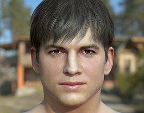 3d model Ashton Kutcher VR / AR ready