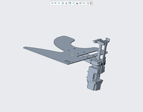 3D printable model Stepping drives the lifting mechanism