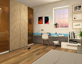 Teenagers Room 3D model