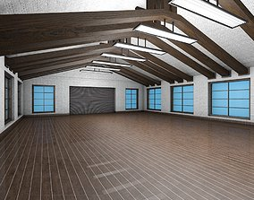 3D model Pack of two Low pbr poly game ready garages