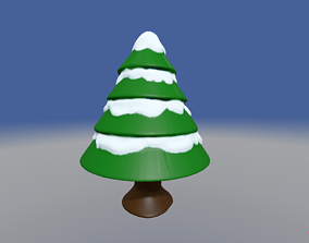 3D printable model Christmas Tree with Snow