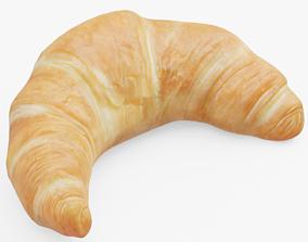 Croissant 3D asset low-poly