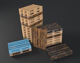 Pallet props low poly 3D model