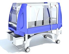 Pediatric Medical Hospital Bed 3D model
