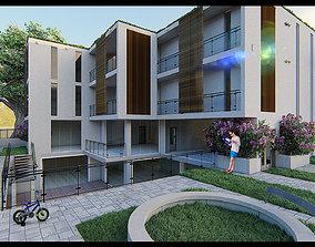 3D model villa modern