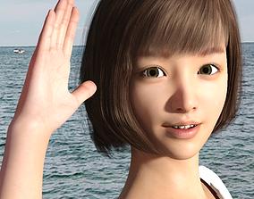 3D model Lovely Girl 02